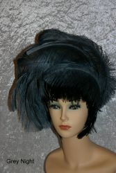 Fascinator Grey Night